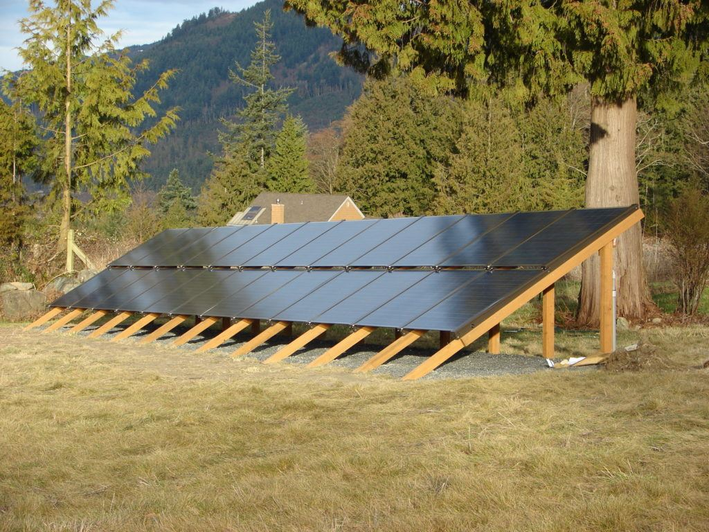 Wooden solar panel mount from Denver