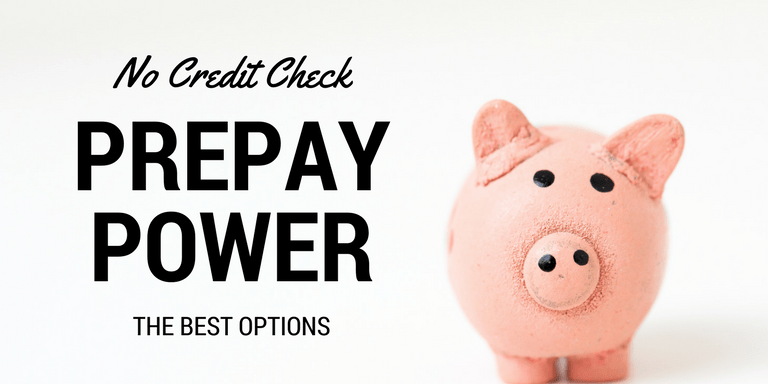 No Credit Check Prepay Power Options Image with Piggybank