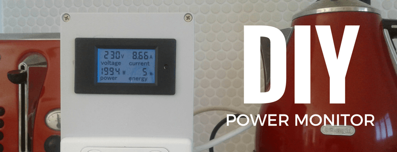 Power monitor connected to kettle