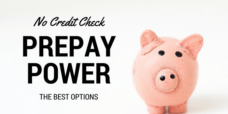 No Credit Check Prepay Power Options Image with Piggybank